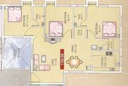 3 BHK Ground floor flat at Ragamalika-Phase-3 complex,  Medavakkam for