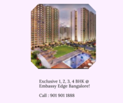 Embassy Edge 1, 2, 3, 4 BHK flats at Embassy Springs,  Devanahalli