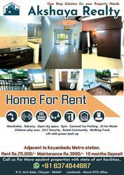 Akshaya Realty presents opulent 2BHK Flats for rent